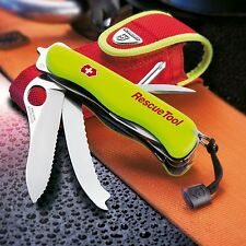 Victorinox Swiss Army Rescue Tool Knife Stainless Implements and Pouch Included