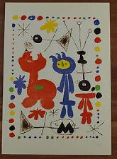Schöne Ansichtskarte AK - Joan Miro Personnage et oiseaux Unbeschrieben!