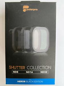 PolarPro 3 filter kit, cinema, Shutter for GoPro Hero 8 black, ND8, ND16, ND32