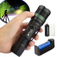 Ultrafire 90000LM T6 LED Rechargeable Zoomable Flashlight Torch +Battery&Charger