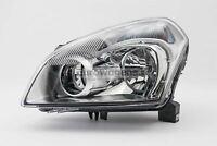 Nissan Qashqai 07-10 Chrome Headlight Headlamp Left Passenger Near Side N/S