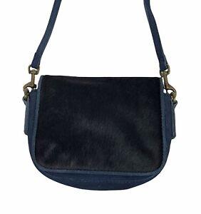 Liebeskind Berlin Navy Blue Mini Leather Crossbody Bag 100% Cow Leather Ret $138