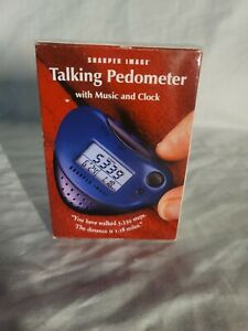 NEW SHARPER IMAGE  EB 300 Talking Pedometer with Music and Clock