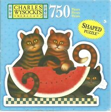 KITTY TREAT BY CHARLES WYSOCKI - Complete - SHAPED PUZZLE
