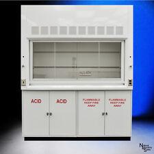 NEW -  6' Chemical Laboratory Fume Hood w/ Flammable Acid Storage Cabinets .-