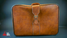 Vintage Brown Leather Suitcase VGC see Photos FAST
