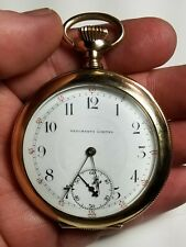 Merchants Limited SWISS 18s 21J OF Yellow Gold Filled Pocket Watch-Running-RR