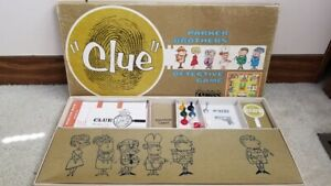 1960 Clue Board Game Parts and Pieces (Game board, character tokens and more)
