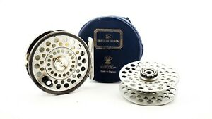HARDY L.R.H. 3 1/8″ TROUT FLY REEL + SPARE SPOOL