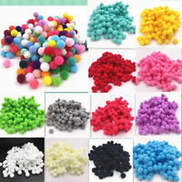 wholesale! New 100 pcs 8mm DIY Crafts mixed Color Mini Fluffy Pom poms Ball Felt