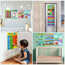 Educational Posters Learning Supplies Charts Teaching Tools 10PCS for Kids