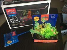 Aqua Culture 1/2 Gallon Betta View with Base W/ Accessories