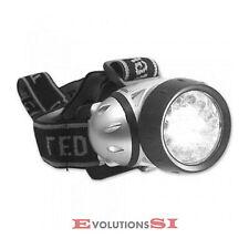 LINTERNA CABEZA FRONTAL 16 LED LUZ LAMPARA IMPERMEABLE CAMPING PESCA CAZA SPORT