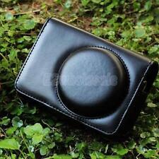 PU Leather Bag Case for Panasonic LX3 LX5 Sony H20 H55 HX5C WX10 HX9 HX7 H70 Blk