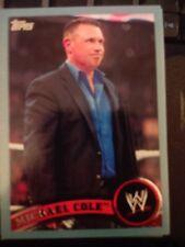 2011 Topps WWE Wrestling BLUE #31 Michael Cole  #d 0434/2011