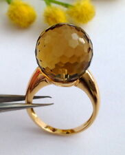 ORIGINALE ANELLO IN ORO 18KT CON QUARZO FUME' - 18KT SOLID GOLD RING WITH QUARTZ