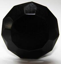 Small Black Cut Glass Cupboard Door Knob or Drawer Pull 35 mm FREE POSTAGE