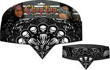 Chop Top: Skull Wire Explosion Bandanna Doo Rag Motorcycle Casual  Head Wrap New