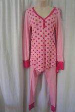 Jenni Sleepwear Sz XS Pink Ski Dot Thermal Long Sleeve Pajama 2-Piece Set