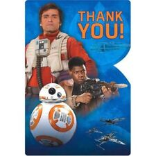 """Star Wars """"The Force Awakens"""" VII 8 Ct Thank You Postcards Party"""
