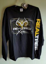NWT Realtree Xtra Men's MEDIUM Long Sleeve Shirt DEER  Black HUNTING Tee #350816