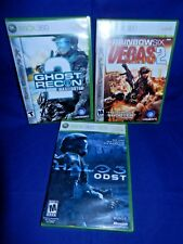 Lot of 3 XBox 360;Halo 3 ODST,Rnbow 6 Vegas 2-both 2 Dsc,Ghost Recon 2,All w/Man