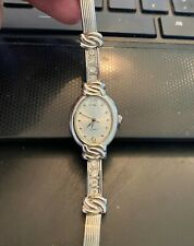Women's Silver Tone Watch, Bracelet Band, Rhinestone Accents