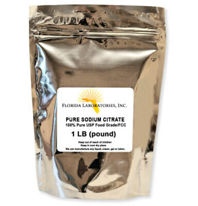 Sodium Citrate FCC/USP 1 LB-TriSodium Citrate Dihydrate 100% Food Grade Granular