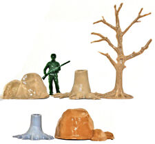 Marx Recast 10 Woodland Accessories - 54mm 1990s production - no figure included