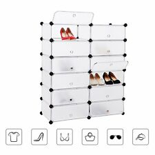 Mobiletto guardaroba/scarpiera modulare rettangolare 12 scomparti Bianco LPC26W