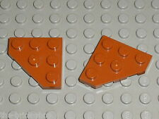 2 x LEGO DkOrange Plate ref 2450 /Set 70143 & STAR WARS set 75085 Hailfire Droid