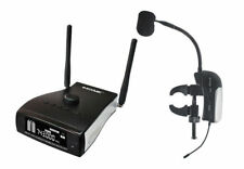 Professional UHF PLL Instrument Wireless Microphone System for Clarinet / Flute