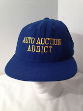 AUTO AUCTION ADDICT NOVELTY SNAP BACK BASEBALL CAP HAT M - L GUC