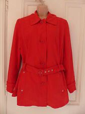 M&S Portfolio size 12 bright red thigh length waterproof mac/trenchcoat