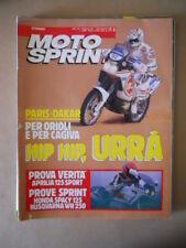 MOTOSPRINT n°3 1990  TEST APRILIA 125 SPORT HONDA SPACY 125   [MS9]