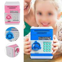 Piggy Bank Safe Money Box Bank Electronic Password Lock ATM Cash Coin Kids Gift
