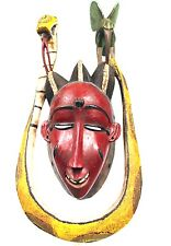 Art Africain Tribal - Masque de Danse Gouro Zaouli - Sculpture Extra - 44,5 Cms