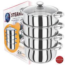 4 niveau 24 cm S/S acier plaque à induction cuiseur vapeur Multi Légumes Cuisini...