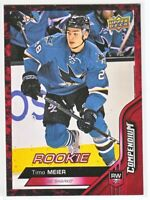 2016-17 Upper Deck Compendium Series 3 RED ROOKIE RC Timo Meier  #828
