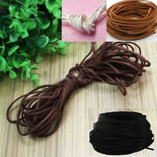 Suede Leather Cord Black, Dark or Light Brown, White Flat Necklace Bracelet 3mm