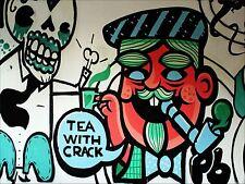 ART PRINT POSTER FOTO MURALE Graffiti Street tè con crepa nofl0343