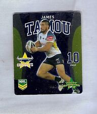 TIP TOP NRL 2013 RUGBY LEAGUE FOOTY SUPERSTARS CARD #8 JAMES TAMOU, COWBOYS