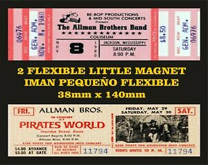 Allman Brothers Band tickets 2 IMANES 2 MAGNETS