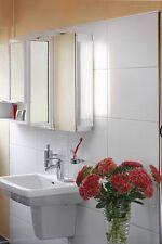 Badleuchte Spiegellampe Wandleuchte Weiß IP41 Schalter Steckdose Spiegelleuchte