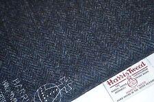 Harris Tweed Stoff & Etiketten 100% Wolle Schottenkaro Fischgräte