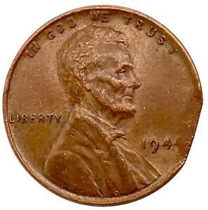 """1944 Lincoln Cent Penny, """"ERRORS"""" Clipped Planchet ."""