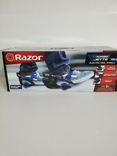Razor Turbo Jetts Electric Heel Wheels - Dlx Blue with Lighted Wheels