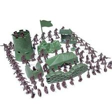 Kids Children Army Combat Game Toys 100pcs Soldier Army Military Model Set