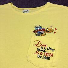 Looney Tunes T Shirt Adult M Yellow Tweety Bird Cartoons Vintage 90s Tv Show