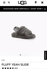 Sliders Uggs Fluff Yeah Kids Size 8 Beautiful And Fluffy